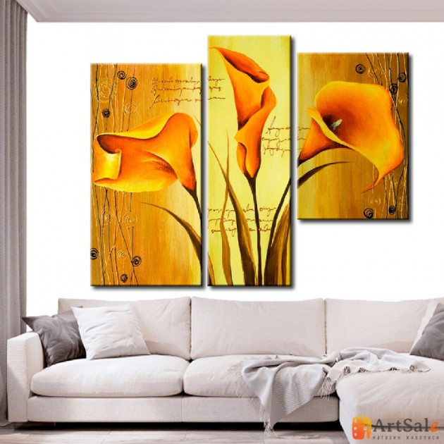 Модульная картина цветы каллы, ART.: KCC0104