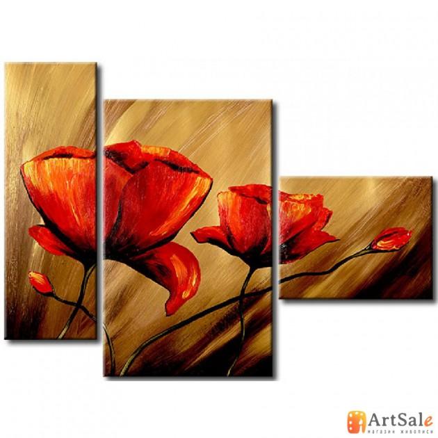 Модульная картина цветы, ART.: KCC0137