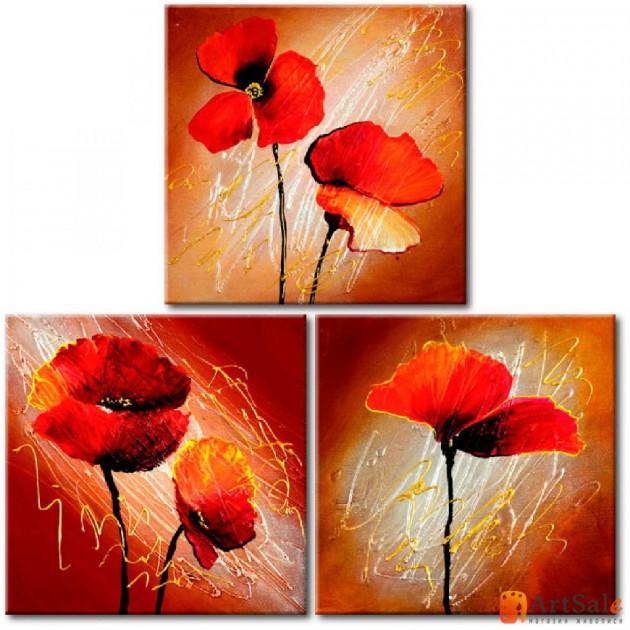 Модульная картина цветы, ART.: KCC0140