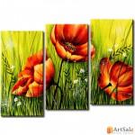 Модульная картина цветы, ART.: KCC0145