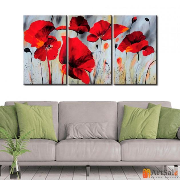 Модульная картина цветы, ART.: KCC0148