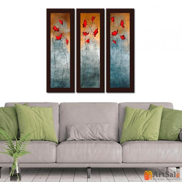 Модульная картина цветы, ART.: KCC0155