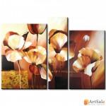 Модульная картина цветы маков, ART.: KCC0168
