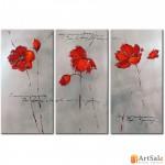 Модульная картина цветы, ART.: KCC0181