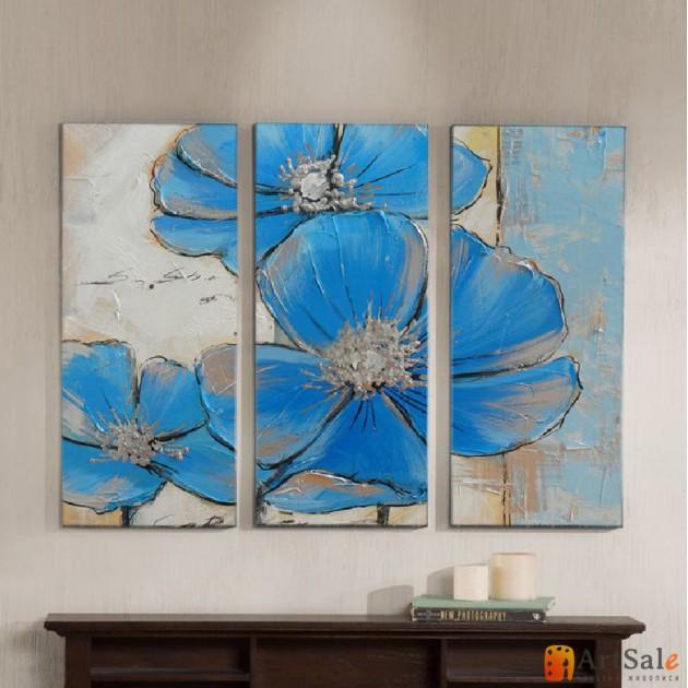 Модульная картина цветы, ART.: KCC0187