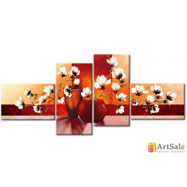 Модульная картина цветы, ART.: KCC0205