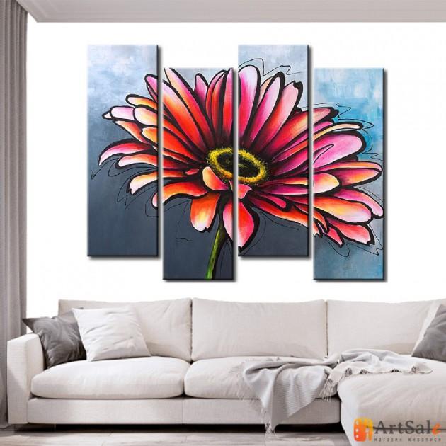 Модульная картина цветы, ART.: KCC0214