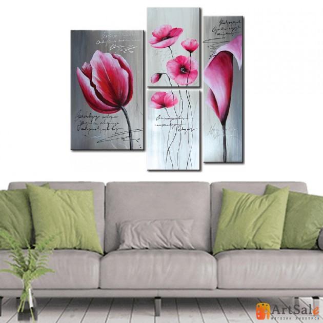 Модульная картина цветы тюльпаны, ART.: KCC0223