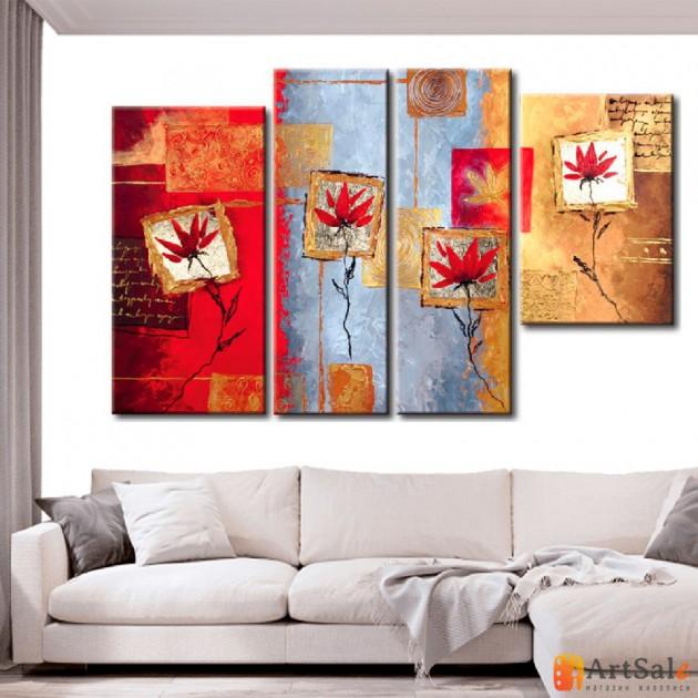 Модульная картина цветы, ART.: KCC0230