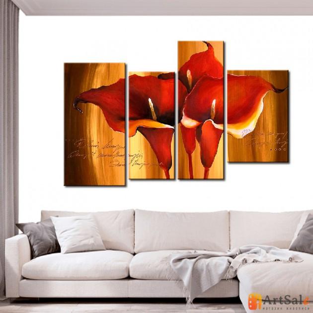 Модульная картина цветы, ART.: KCC0251