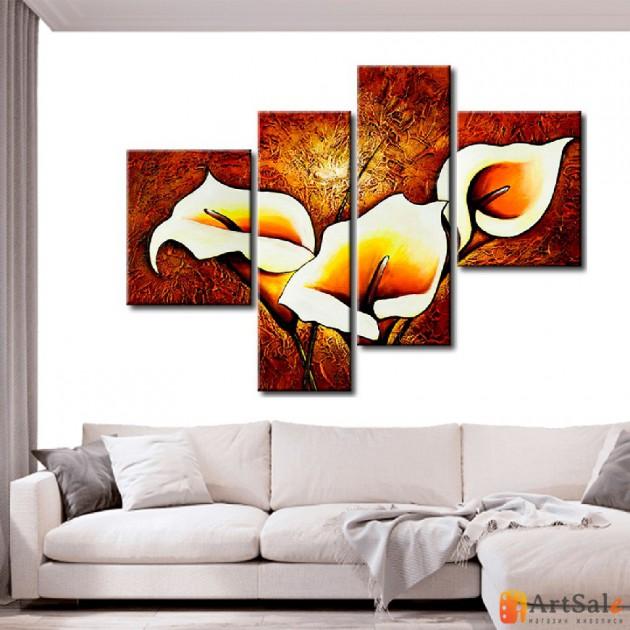 Модульная картина цветы, ART.: KCC0258