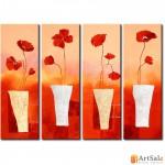 Модульная картина цветы, ART.: KCC0333