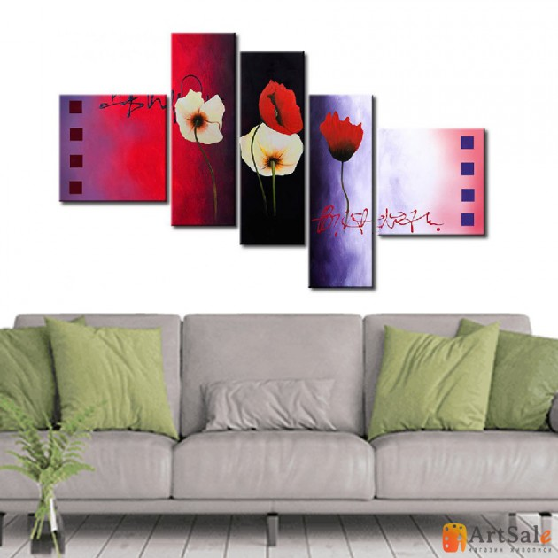 Модульная картина цветы, ART.: KCC0358