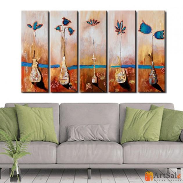 Модульная картина цветы, ART.: KCC0379