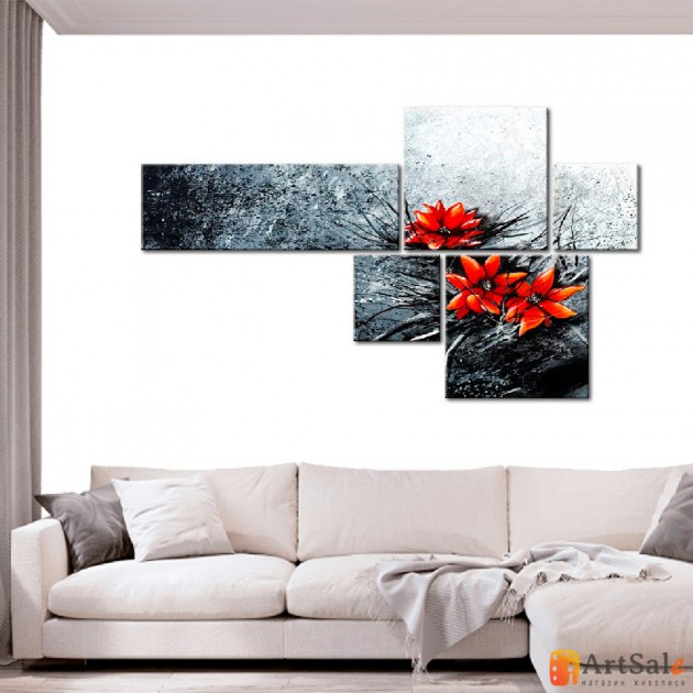 Модульная картина цветы, ART.: KCC0393