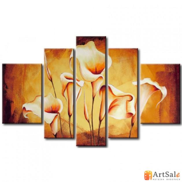 Модульная картина цветы, ART.: KCC0413