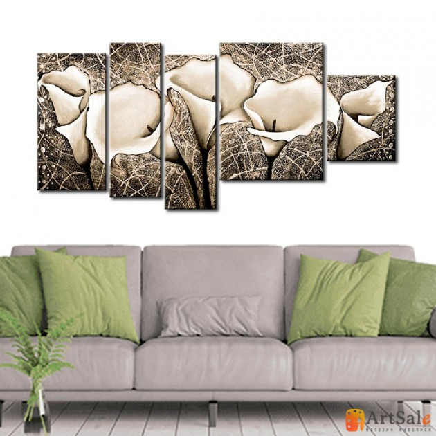Модульная картина цветы, ART.: KCC0420
