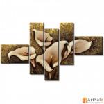 Модульная картина цветы, ART.: KCC0423