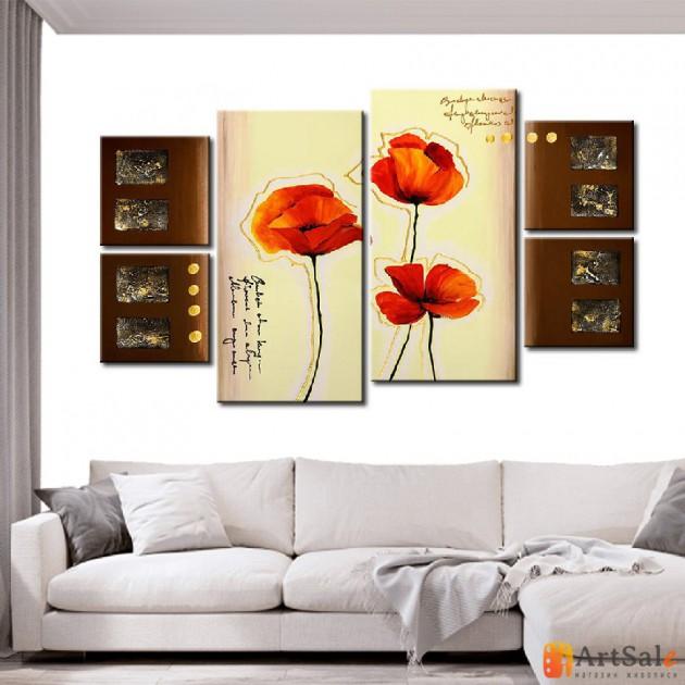 Модульная картина цветы, ART.: KCC0443