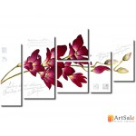 Модульная картина орхидея, ART.: KCC0448