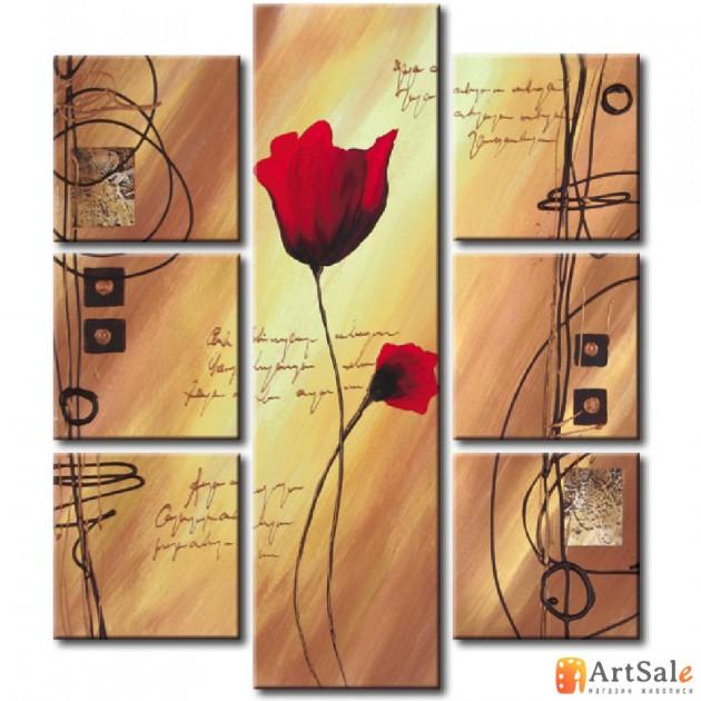 Модульная картина цветы, ART.: KCC0459