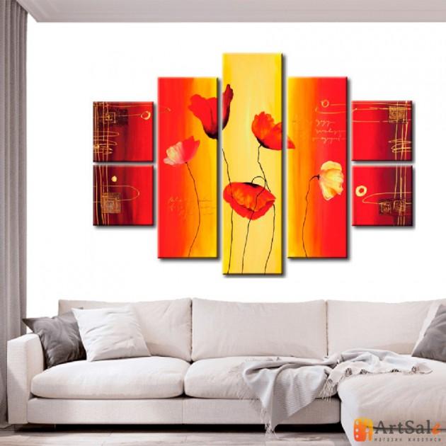 Модульная картина цветы, ART.: KCC0463