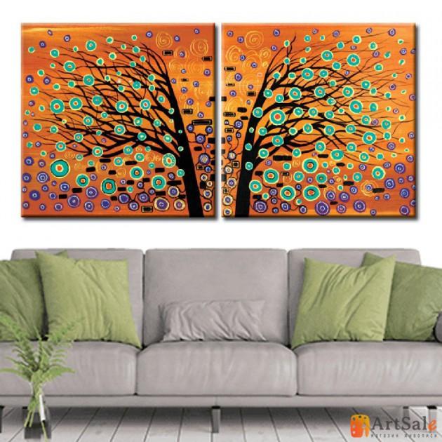 Интерьерные модульные картины, Дерево ART.: KIM0654