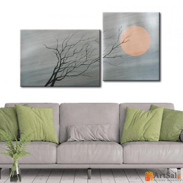 Интерьерные модульные картины, Дерево Солнце ART.: KIM0657