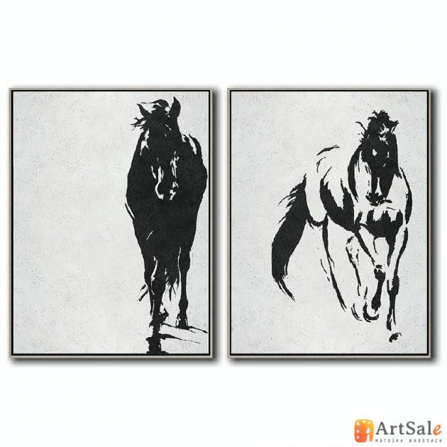 Интерьерные модульные картины, Лошади ART.: KIM0665