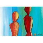 Интерьерные модульные картины, Цветные Силуеты ART.: KIM0027