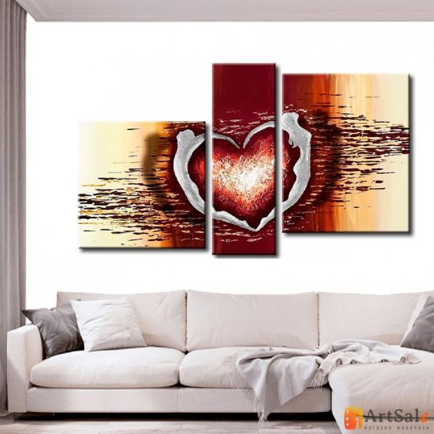 Интерьерные модульные картины, Сердце ART.: KIM0063