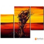 Интерьерные модульные картины, Девушка дерево ART.: KIM0128