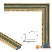 Рамки для картин, багет пластиковый ART.: BP646