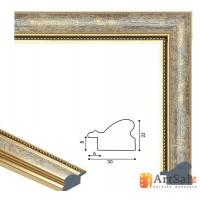 Рамки для картин, багет пластиковый ART.: bp648
