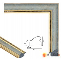Рамки для картин, багет пластиковый ART.: bp650