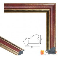 Рамки для картин, багет пластиковый ART.: bp652