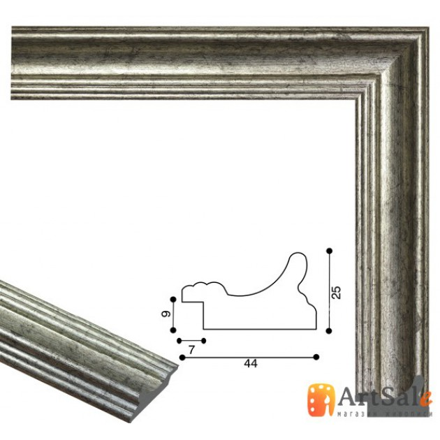 Рамки для картин, багет пластиковый ART.: bp716