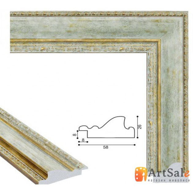 Рамки для картин, багет пластиковый ART.: bp675
