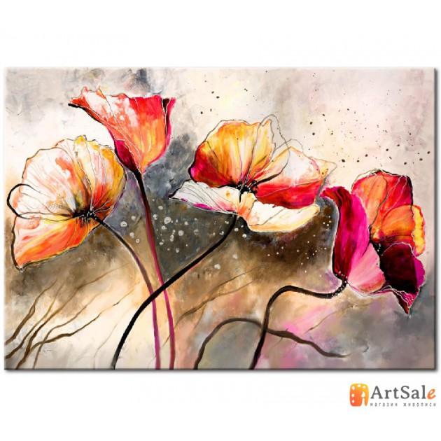 Картина цветы маки, ART: FS0005