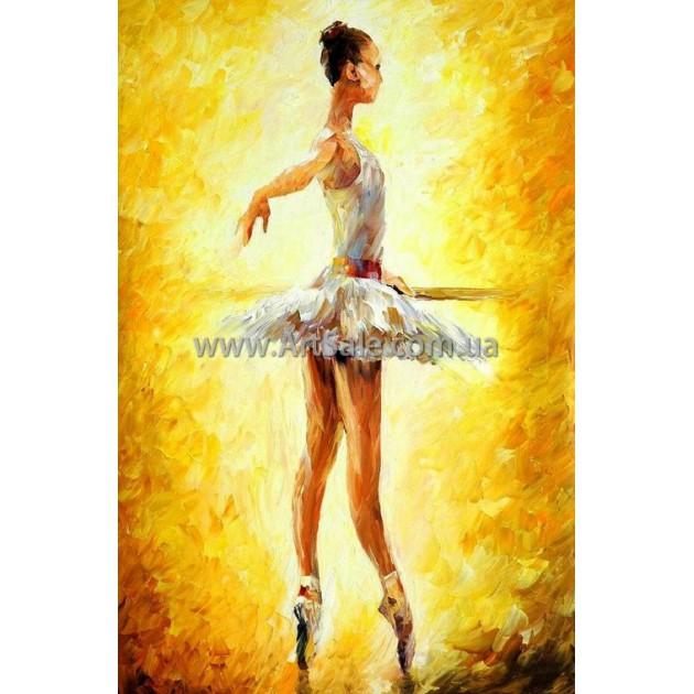 "Картина маслом купить ""Балерина на желтом"""