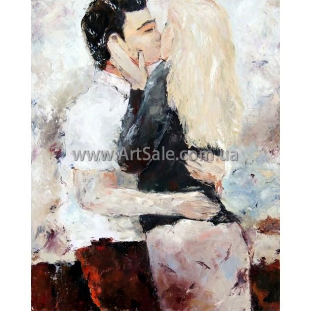 """Картина маслом купить """"Целующаяся Пара"""""""