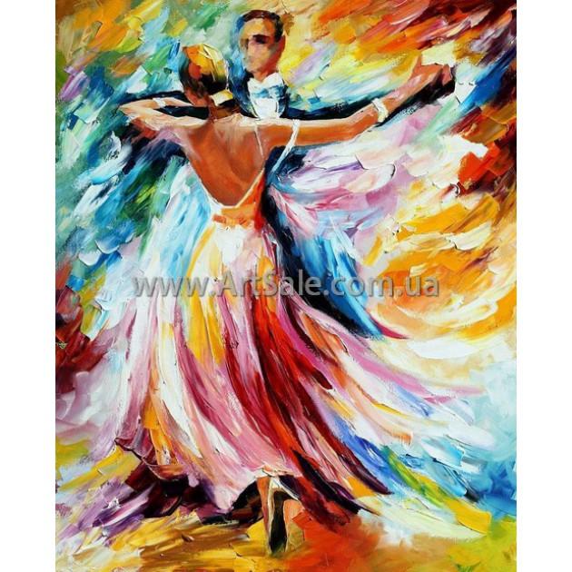 """Картина маслом купить """"Танцующая пара"""""""