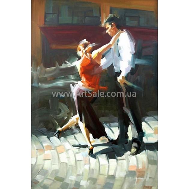 """Картина маслом купить """"Страстный танец"""""""