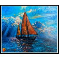 Морской пейзаж, пейзаж море, ART# MOP17_053