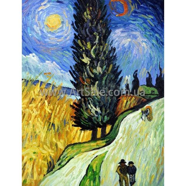 """Купить картину Ван Гога """"Сельская дорога"""""""