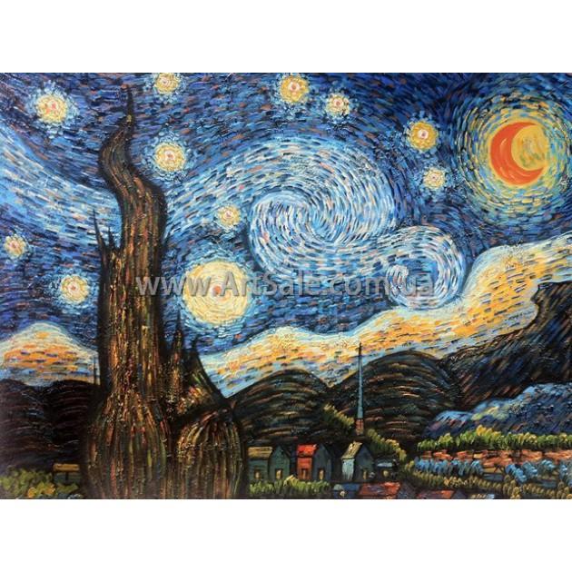 Купить картину Ван Гога Звездная Ночь