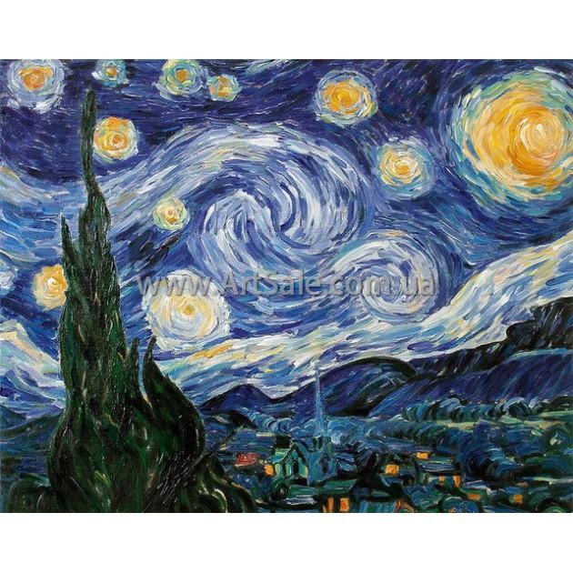 Купить картину Ван Гога Звездная Ночь 2