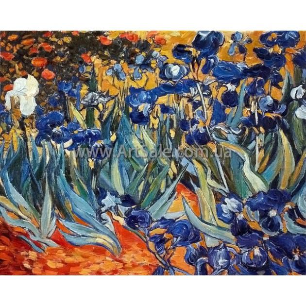 Купить картину Ван Гога Ирисовое поле