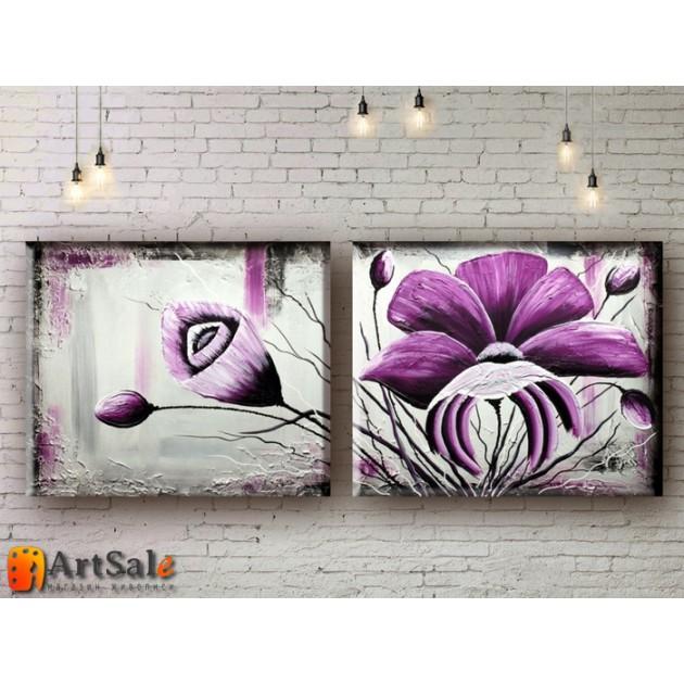 Модульные Картины, рисованные маслом, Art. MKR17_2_023