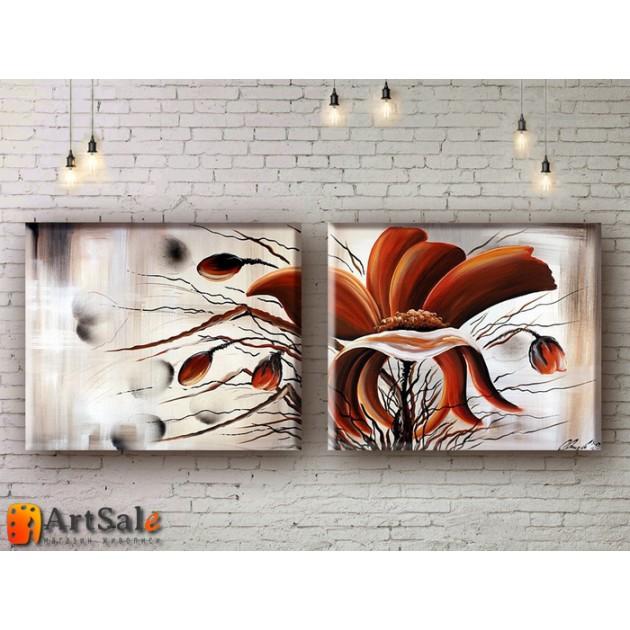 Модульные Картины, рисованные маслом, Art. MKR17_2_027